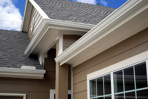 Seamless Gutters installed on a house by an expert remodeler.
