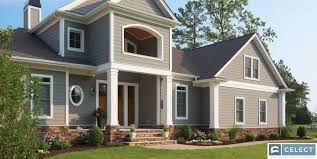 Large home remodeled by a professional siding contractor.
