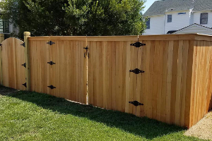 Beautiful wooden fence that was part of a remodel.